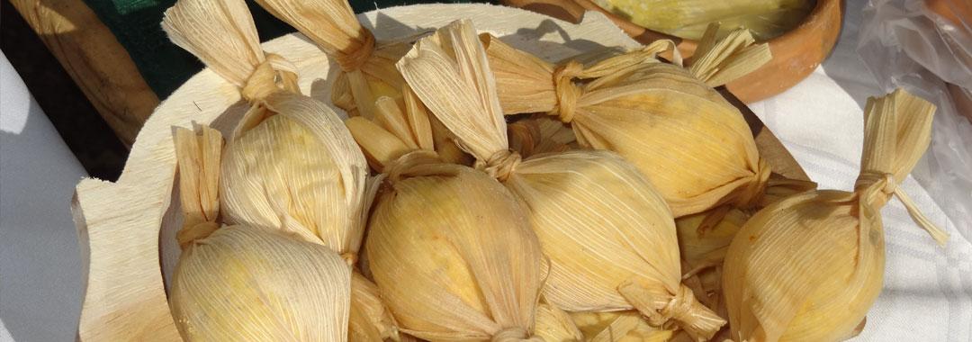Tamales, comida tìpica de Chicoana